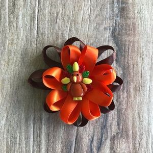 Other - Thanksgiving flower loop hair bow